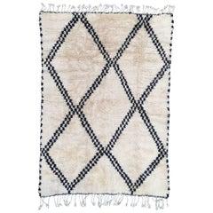 Beni Ourain Rug, Moroccan Berber Carpet