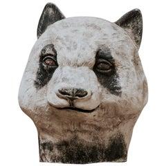 Papier Mâché Panda Mask