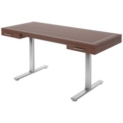 Custom Floating Design Desk with Steel Feet