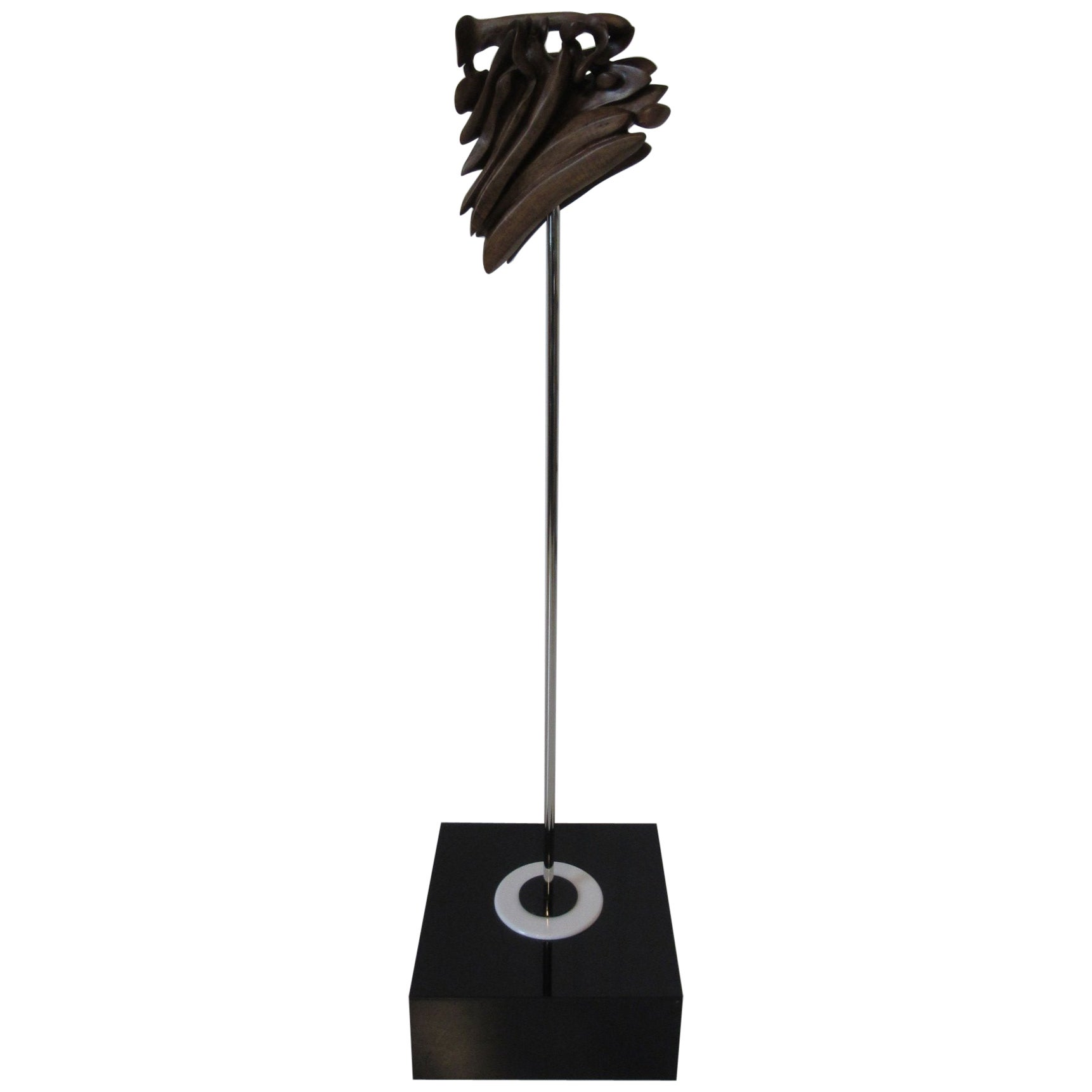 Carved Walnut Sculpture by Emil