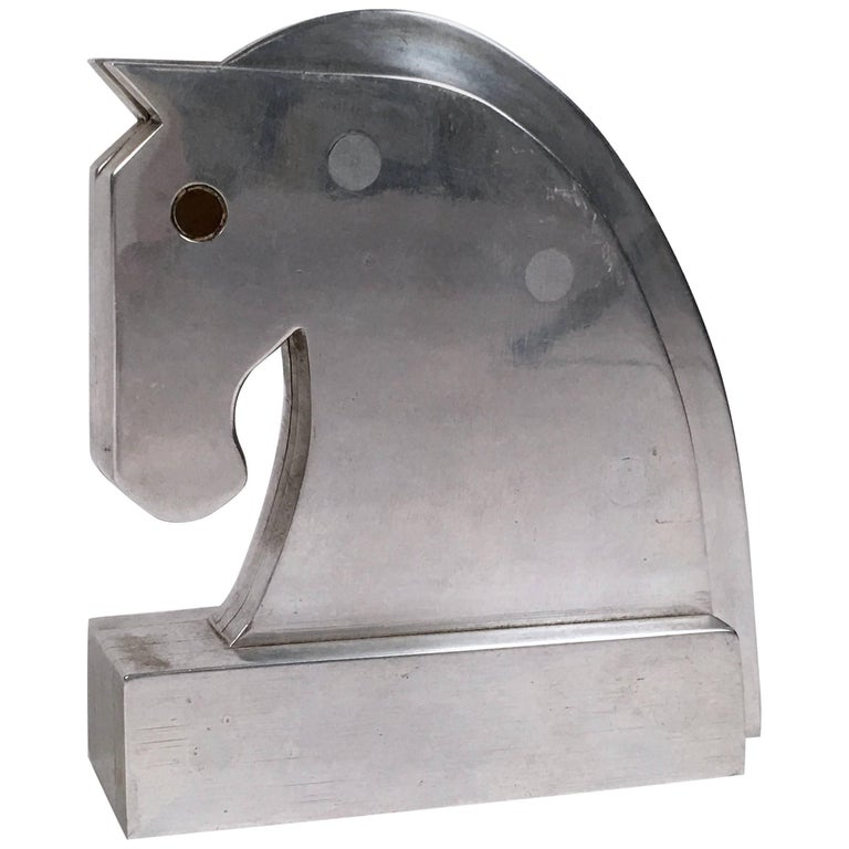 Machinist Made Steel Horse Head Sculpture