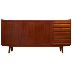 "Mid-Century Modern Design 1950s ""Abstrakta"" Mahogany Sideboard by Jos De Mey"