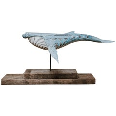 Wooden Whale Sculpture