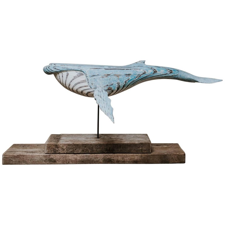 Wooden Whale Sculpture For Sale
