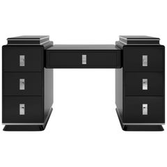 Modernist Black Art Deco Design Tower Desk