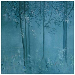 Magic Forest Watercolor Wall Painting