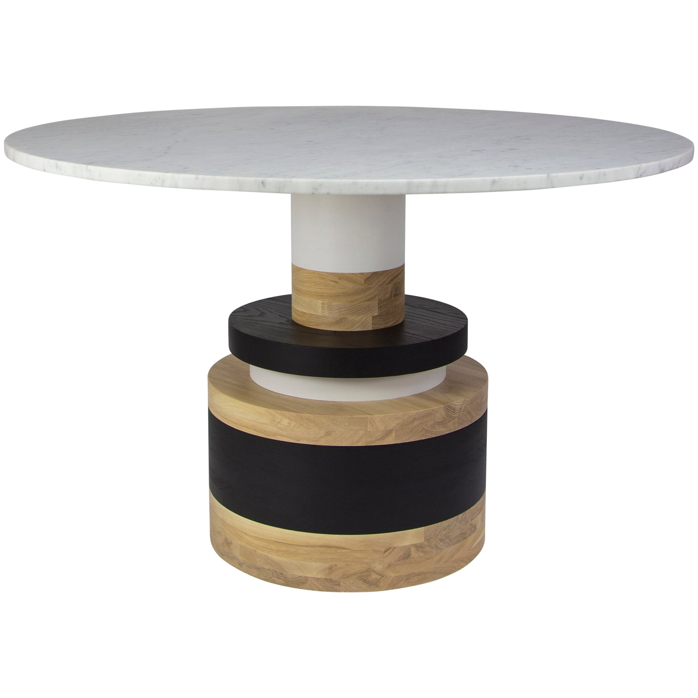 Customizable Sass Dining Table from Souda, Medium, Marble Top