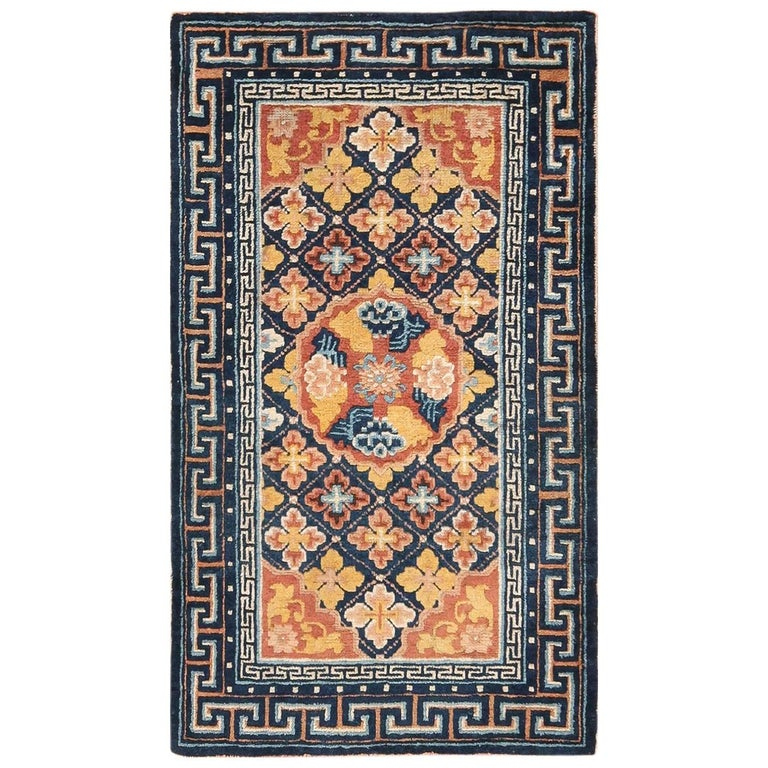 Small Size Antique Chinese Ningxia Rug