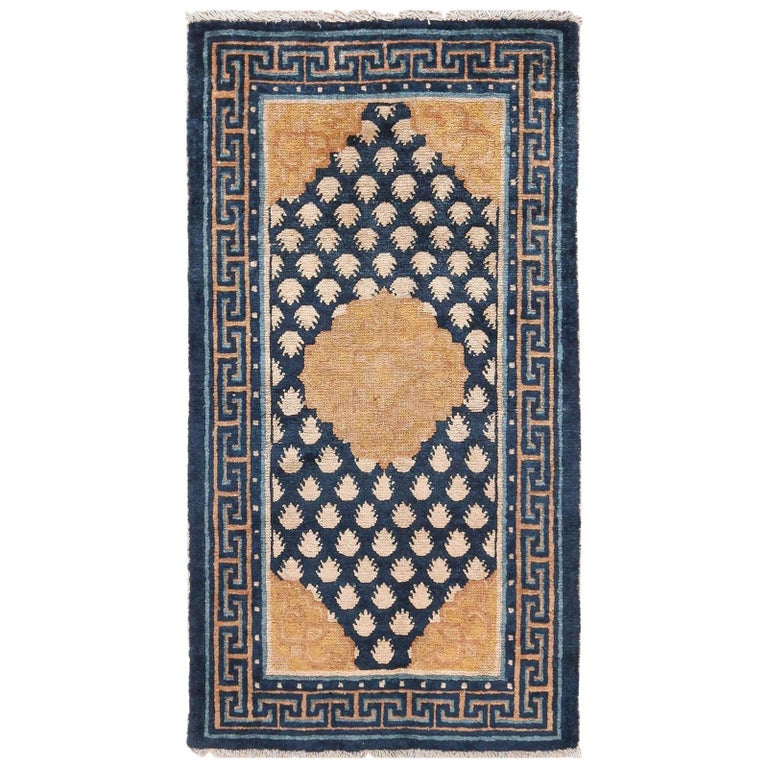 Antique Navy Background Chinese Rug