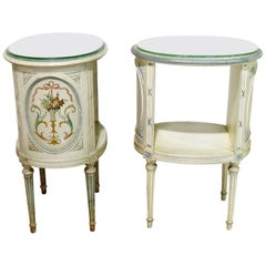 Compainion Pair of Louis XVI Style Nightstands