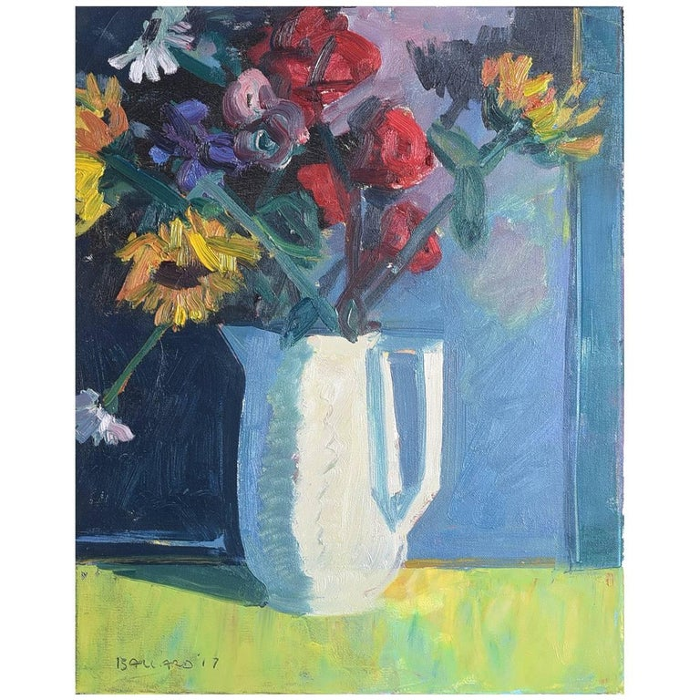 'Still Life, Vase of Flowers' by Brian Ballard For Sale