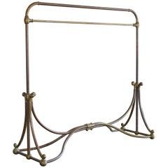 "Art Nouveau Period Large Brass Clothing Rack, ""Siegel Paris"", Early 20th Century"