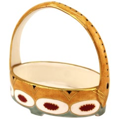 Wahliss Viennese Secessionist Austrian Porcelain Basket Dish