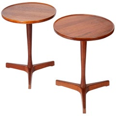 Pair of Danish Teak Side Tables Designed by Hans C Andersen, circa 1950s