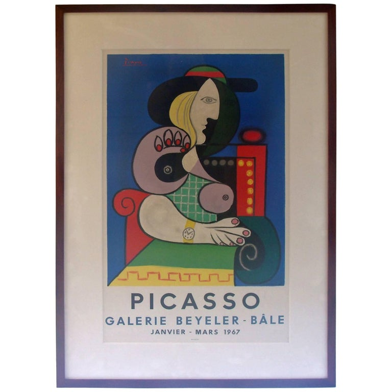 Picasso Exhibition Poster 1967 Lithograph