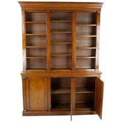 Antique Mahogany Bookcase, Open Bookcase, Victorian, Scotland, 1860