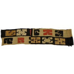 Antique African Kuba Cloth Hanging
