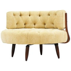 Adrian Pearsall Swivel Tufted Chair for Craft Associates