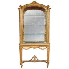 Carved Giltwood Display Cabinet