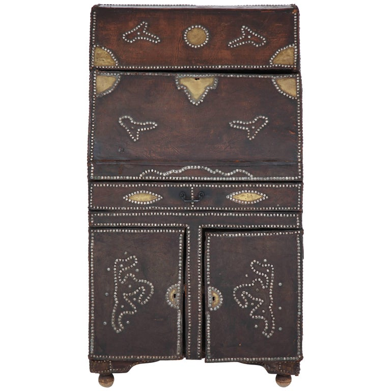 Leather Covered Desk For Sale