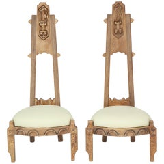 Pair of Witco Tall Back Chairs