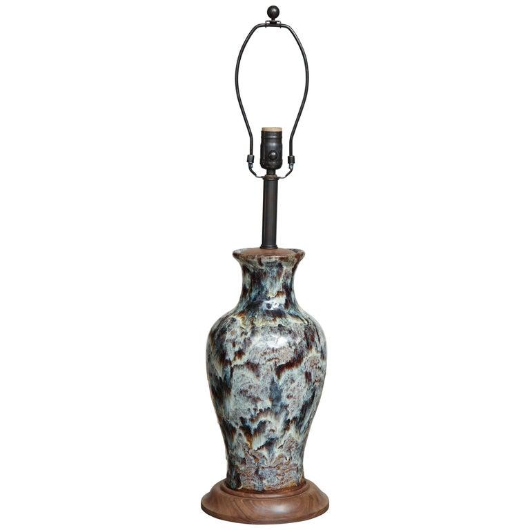 Jun Ware Lamp For Sale