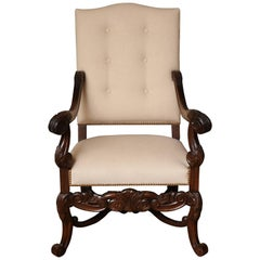 Belgian Carved Armchair