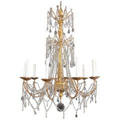 Hand-Carved Wood Chandelier