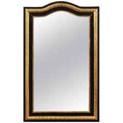 French Ebonized and Giltwood Mirror with X-Shaped Motifs, circa 1900