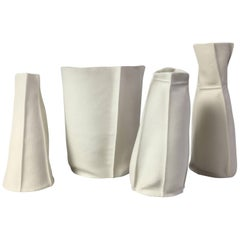 Set of Four Kawa Porcelain Pieces, in Stock