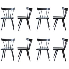 Set of Eight Paul McCobb Ebonized Planner Group Dining Chairs