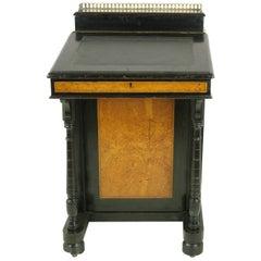 Antique Davenport Desk, Victorian Desk, Aesthetic Movement, Scotland 1880, B987