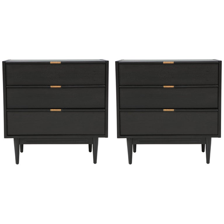 Pair of Ebonized Chests