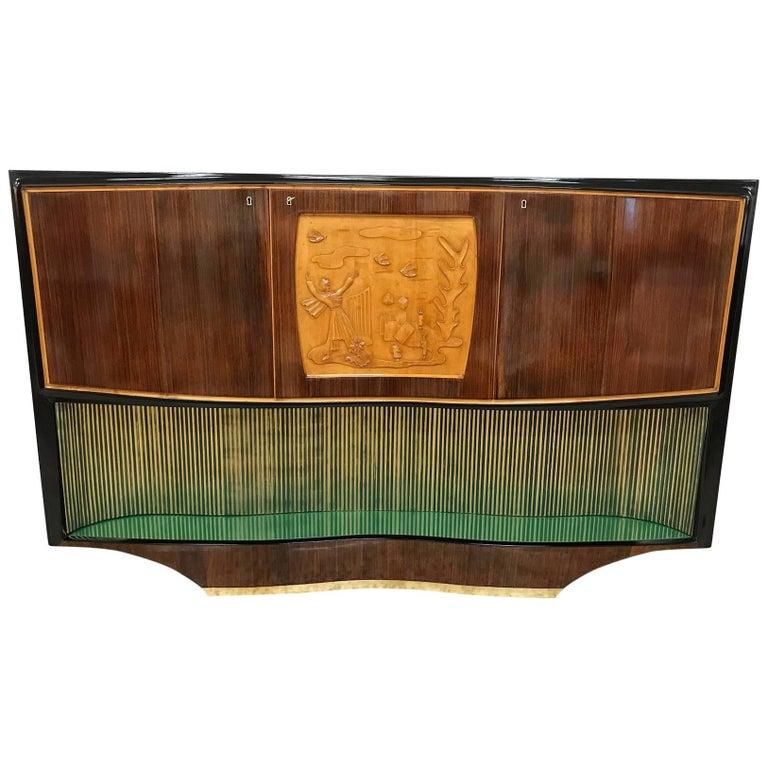 Midcentury Dassi Bar Cabinet, 1950s