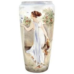 Art Deco French Porcelain Vase, Signed Lashbrook, B. & Co.