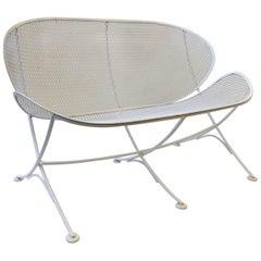 White Lacquer Outdoor Settee Sofa by Maurizio Tempestini for Salterini