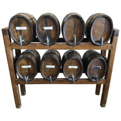 Rare Set of Old, Oak, Whiskey Casks, circa 1820