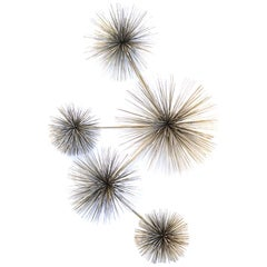 Curtis Jere Pom Pom or Urchin Chrome-Plated Wall Sculpture