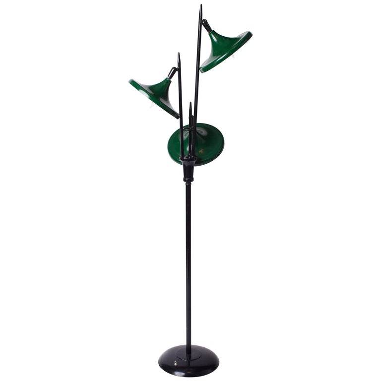 Triennale Floor Lamp in Lacquered Metal by Gerald Thurston for Lightolier, 1950s