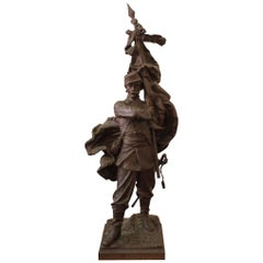 "Bronze Sculpture ""Patrie"" by Aristide Croisy"