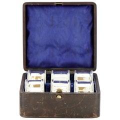Vintage Sterling Silver Set of Six Napkin Rings, Atkin Bros, Birmingham, 1950