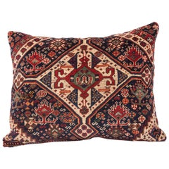 Antique Pillow Case Fashioned from an 19th Century Kashgai Rug Fragment
