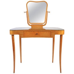 1950s Italian Cherrywood Dressing Table or Vanity