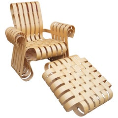 Power Play Lounge Chair and Ottoman by Frank Gehry for Knoll