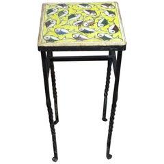 Vintage Persian Tile Small Iron Table