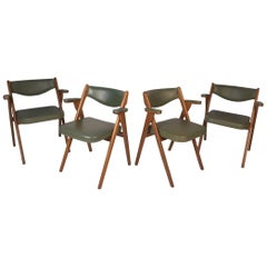 Set of Four Midcentury Folding Coronet Chairs by Norquist Products
