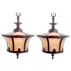 Matching Pair of Bank Lights