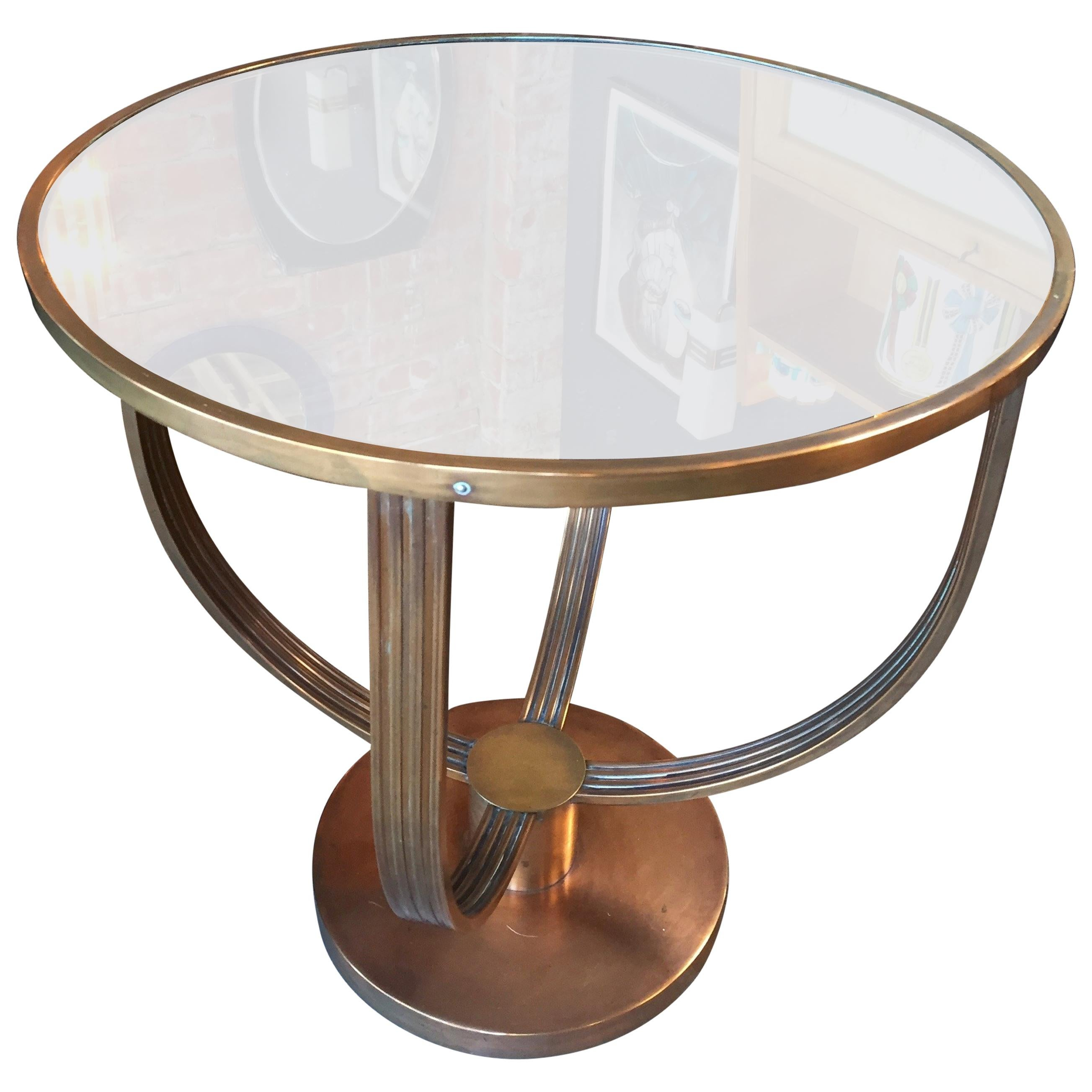 French Art Deco Coffee Table, Attributed To Jean Michel Frank, 1930s For  Sale