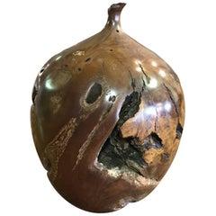Hap Sakwa Burl Manzanita Wood Weed Vase
