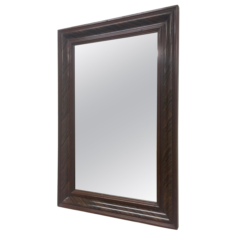 Pine Grain-Painted Wall Mirror